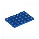 Plaatje 4x6 blauw 3032/303223